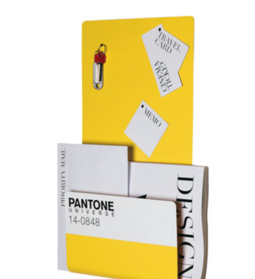 Porte-revues et tableau magnétique, Pantone