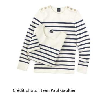 La mythique marinière de chez Jean Paul Gaultier à retrouver dans les boutiques Jean Paul Gaultier