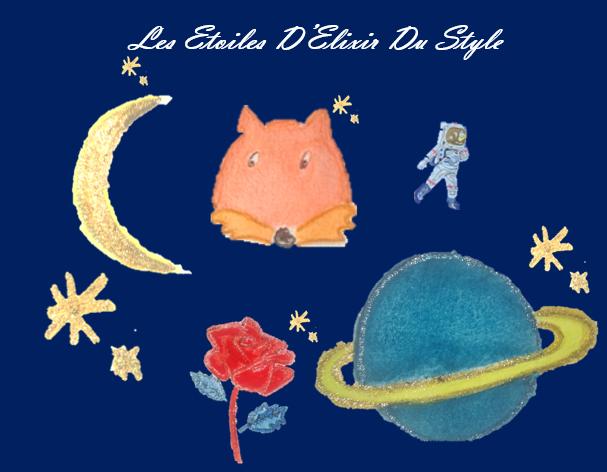 LES ETOILES D ELIXIR DU STYLE FOND BLEU